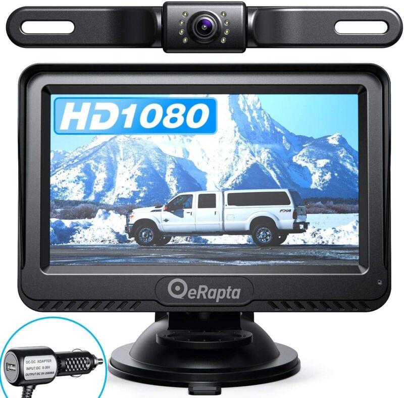 """eRapta Backup Camera System Car Rear View HD Parking Night Vision 4.3"""" Monitor"""