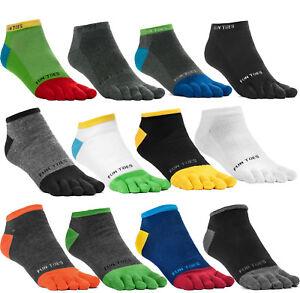 12 Pairs Random Fahshion Men Unisex Five Finger Separate Toe Socks Value Pack