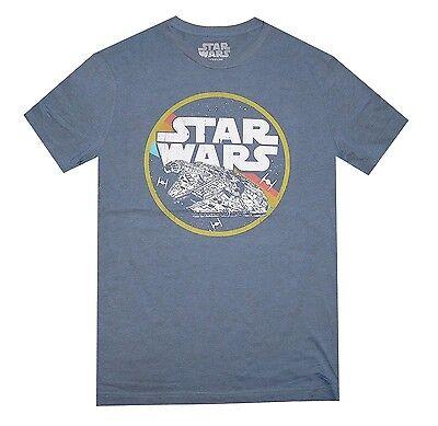 Star Wars Millennium Falcon Circle Flight Navy Heather Men's T-Shirt New (Star Wars Tshirts)