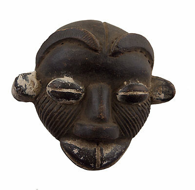 Mask Diminutive African Passport Miniature Terracotta Divination 6466 Q1