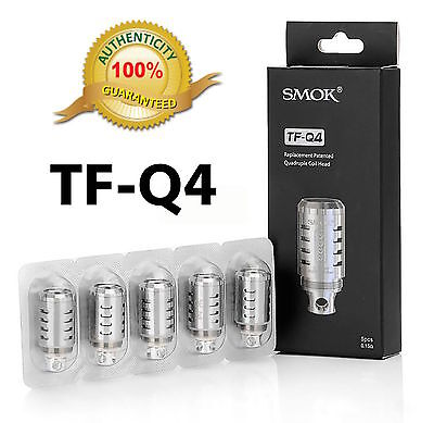 SMOK TF-Q4 Quad Coils For TFV4 Tank 5-Pack Replacement USA Seller Free Shipping