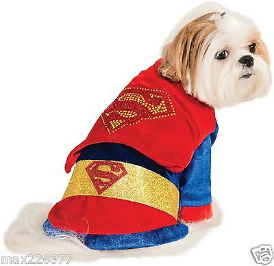 New Rubies Costume DC Heroes and Villains Collection Dog Costume Superman XS - Superheroes And Villains Costumes