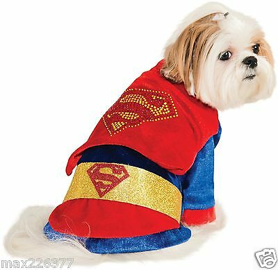 New Rubies Costume DC Heroes and Villains Collection Dog Costume Superman Large - Superheroes And Villains Costumes