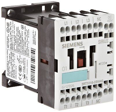 Siemens 3rt10 16-2bw42 Motor Contactor 3 Poles Spring Loaded Terminals