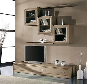 Parete attrezzata per soggiorno o salotto ok come vetrina for Vetrine per soggiorno moderno