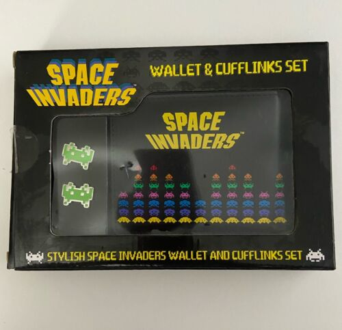 Space Invaders Wallet and Cufflinks Set New