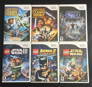 Lot of 6 Nintendo Wii Video Games Star Wars and Lego Batman 2
