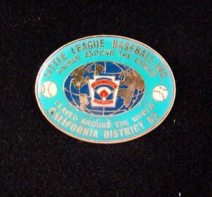 Little League Baseball California District 62  Trading pin Free  Shipping