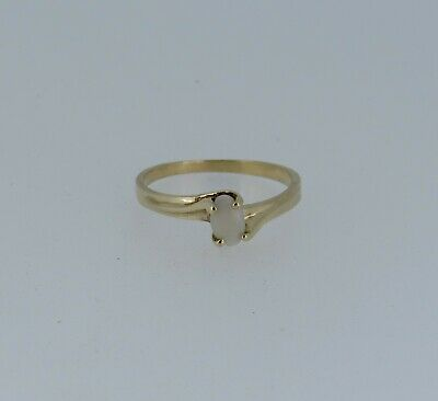 10k Yellow Gold Oval Opal Ring - Size 6 - 1.46 Grams - $51.49