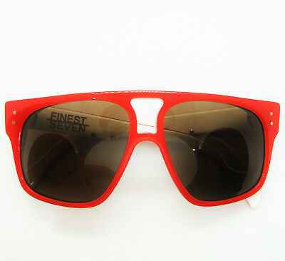 $350 - FINEST SEVEN ZERO 05 TANGERINE RED LIMITED EDITION ZEISS LENS SUNGLASSES