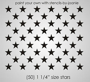 Patriotic STENCIL 1.25 inch STARS Proud American Flag Country Art Signs U Paint