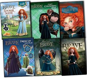 Disney-Disney-Pixar-Brave-6-Books-Collection-From-Film-TV-Tie-in-Stickers-Set