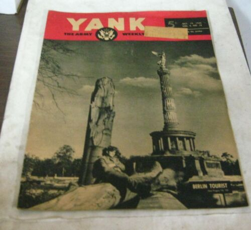 487G-1 YANK, THE ARMY WEEKLY OCTOBER, 19 1945 ISSUE,