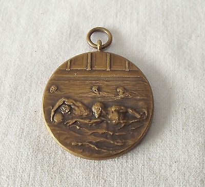 Vintage Swimming Fob / Medal / Pendant Military Western Command 1950