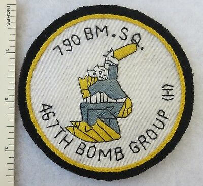 790th BOMB SQUADRON 467th GROUP US AIR FORCE PATCH Custom Sewn for USAF VETERANS