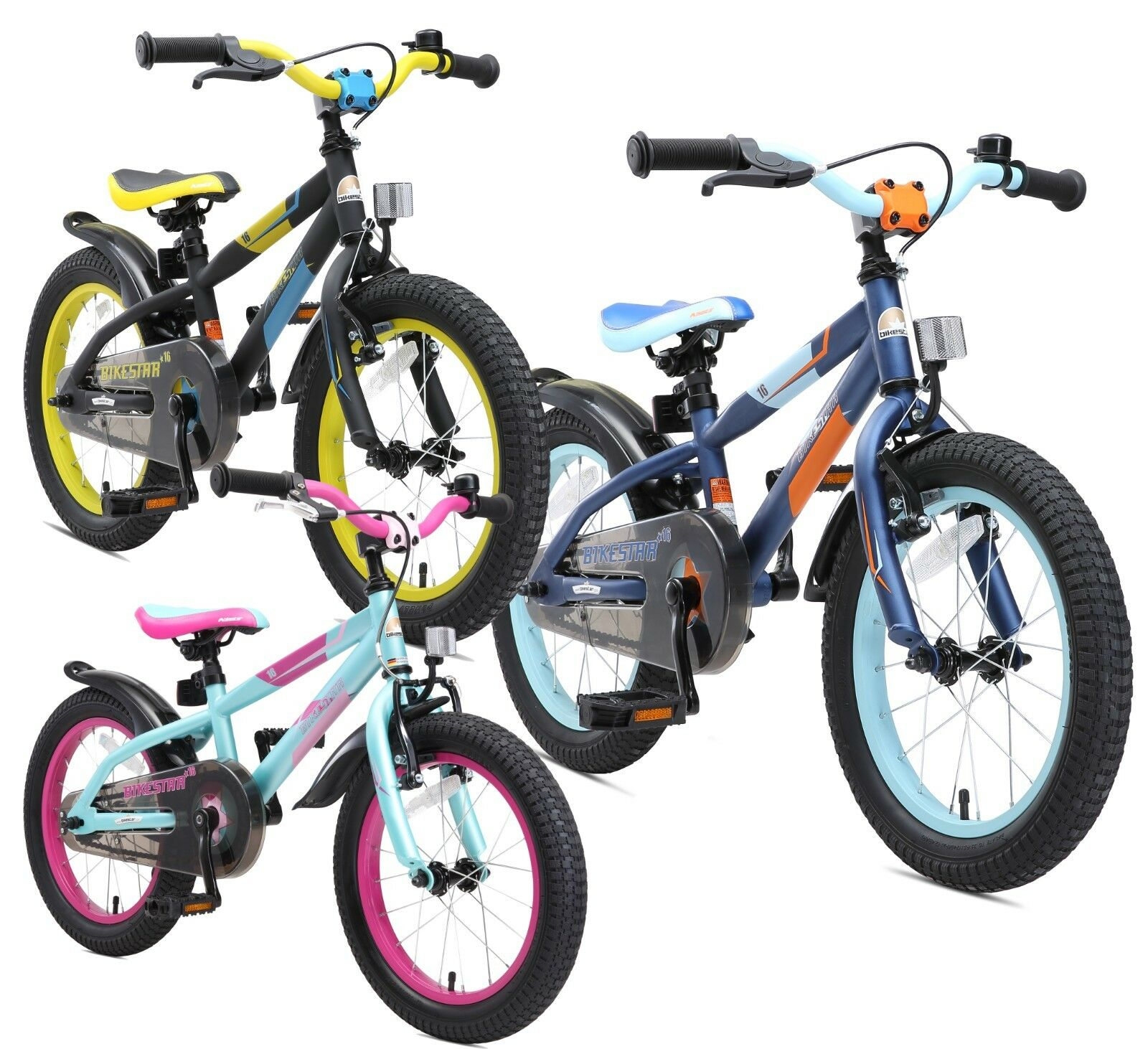 BIKESTAR Kinderfahrrad Kinderrad Fahrrad für Kinder 4 Jahre Mountainbike 16 Zoll