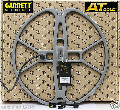 "New NEL ATTACK 15""x15"" DD search coil for Garrett AT GOLD + coil cover + bolt"