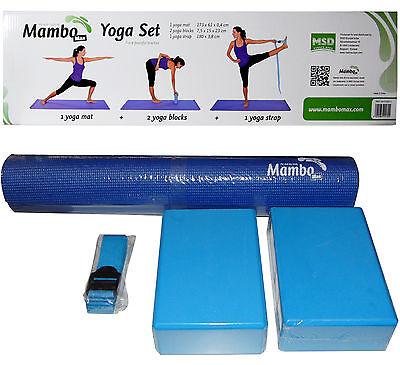Msd YOGA SET Materassino + 2 Blocchi + 1 Cinghia x allenamento esercizi Pilates