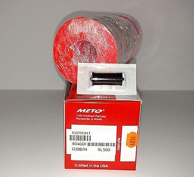 Meto Labels - To Suit 5.16 1 Line Pricegun Fluro Red 16500 Ink Roller