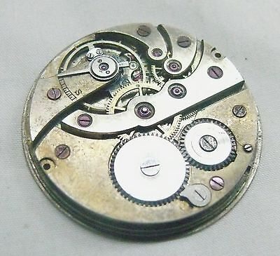 MOVEMENT POCKET WATCH - ENAMELD DIAL INVICTA - FOR REPAIR OR PARTS -