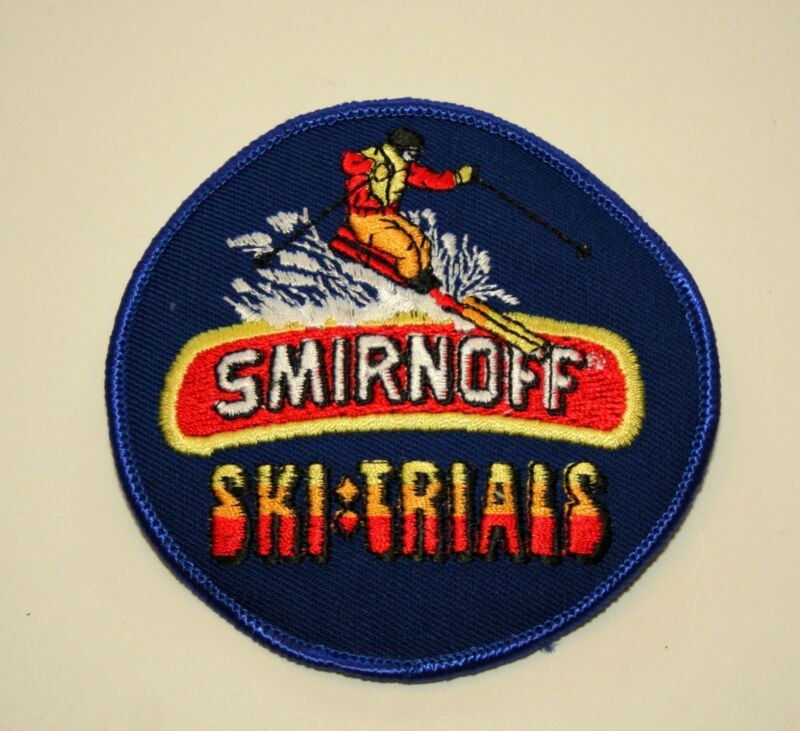 Rare Vintage Smirnoff Vodka Ski Trials Cloth Patch 1980s NOS New Skiing