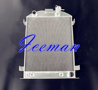 3 ROWS ALL ALUMINUM RADIATOR fit for 1932 1938 FORD MODEL A CHEVY V8 UPGRADE