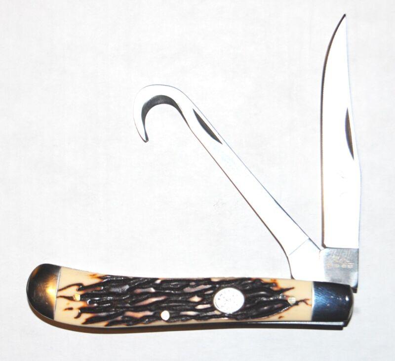 Rite Edge Hoof Pick Burnt Bone Horseman Knife Equine Cleaning Grooming Tool NEW