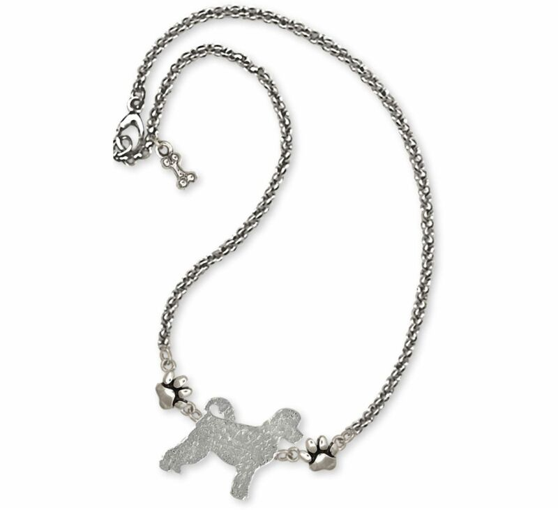 Portuguese Water Dog Jewelry Sterling Silver Handmade Portuguese Water Dog Ankle