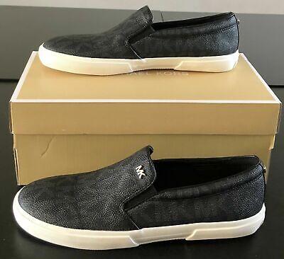 New MICHAEL KORS Womens Shoes Size 9.5 BOERUM DOUBLE GORE PVC BLACK W/Box