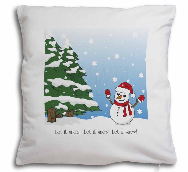 Snow+Man+Soft+Velvet+Feel+Cushion+Cover+With+Inner+Pillow%2C+Snow-1-CPW