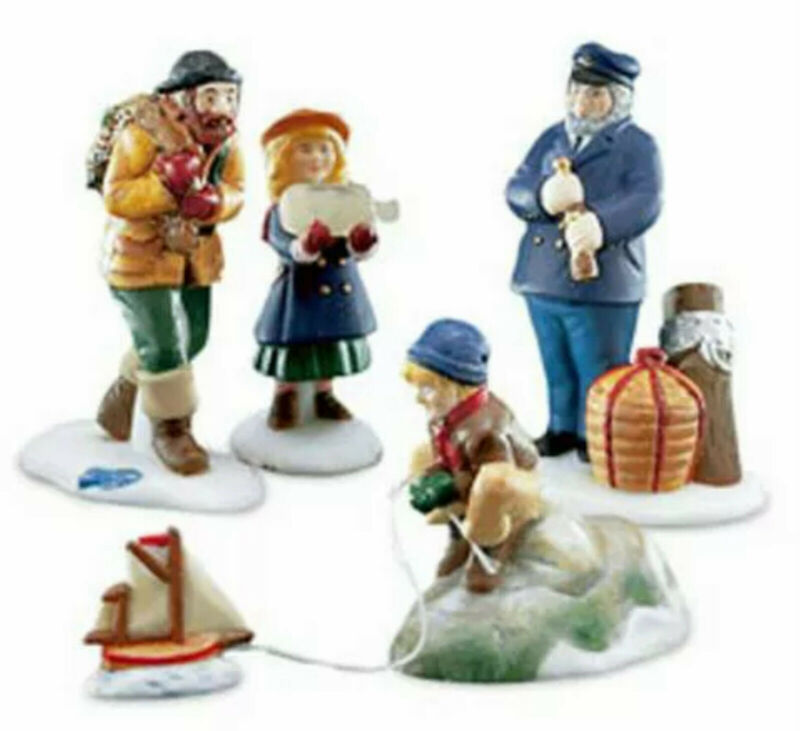 SEA CAPTAIN AND HIS MATES # 56587 DEPT 56 RETIRED NEW ENGLAND VILLAGE ACCESSORY