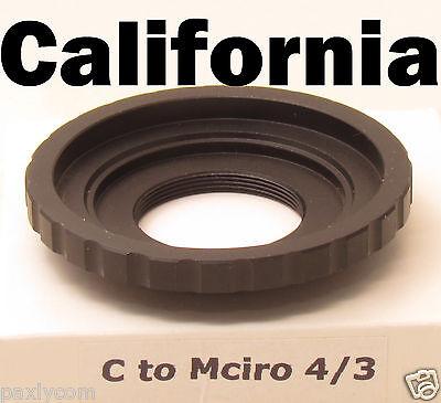 C mount Lens to Micro 4/3 adapter E-P3 E-P5 E-PL5 E-M10 E-M5 DMC-GH4 DMC-GF5 (Micro 4 3 To C Mount Adapter)