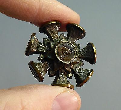 Antique Multi Wheel Seal - Central Masonic Seal c19th Intaglio Victorian 9 Seals