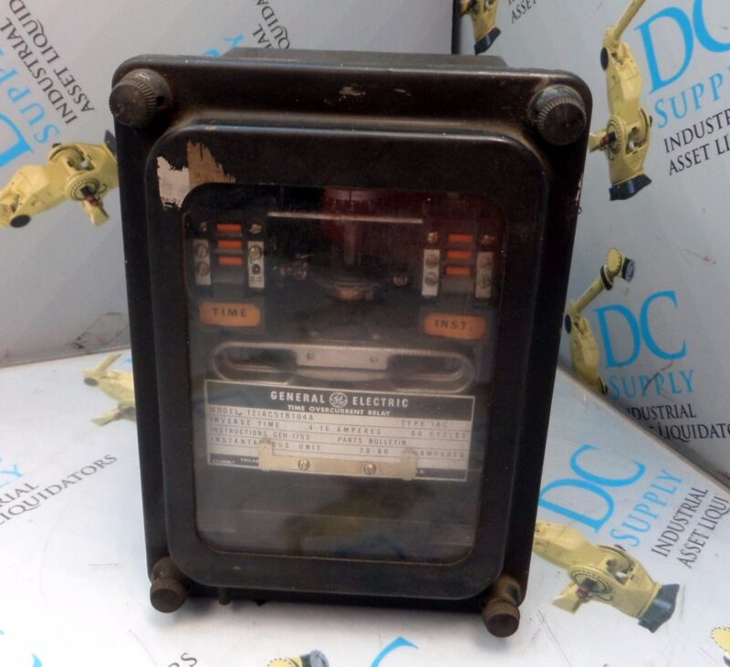 GENERAL ELECTRIC 12IAC51B104A TYPE IAC 60 C TIME OVERLAY RELAY