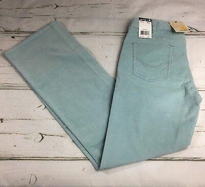 ba33e7cdb8 Carhartt Women's Corduroy Jeans Pants Light Blue Button Zip 2/32 NWT