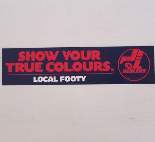 VINTAGE REDLEGS NORWOOD FOOTBALL CLUB SANFL TRUE COLOURS PROMO BUMPER STICKER