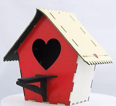 Bird House Kit Heart Front