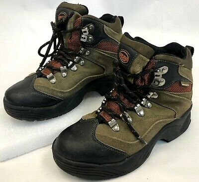Bone Suede Schuhe (Red Head Tan Suede Leather Bone Dry High Top Hiking Boots Small Size Youth 4 M)
