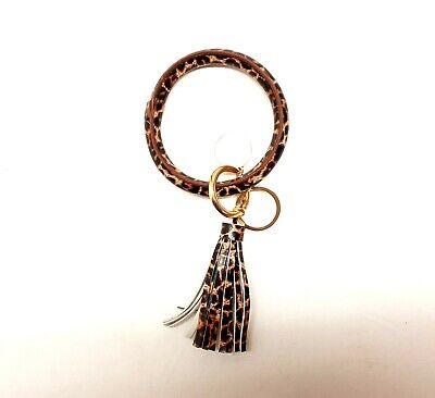 Leather Bracelet Key Ring Bangle Keyring Tassel O Key Ring Keychain Wristlet -