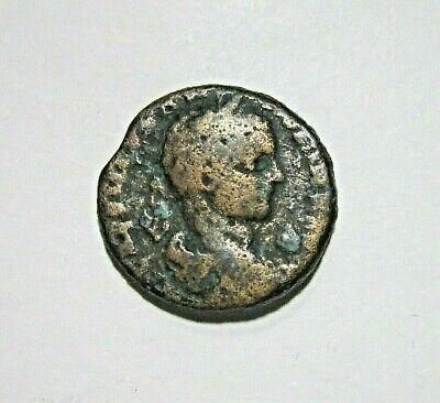 PHOENICIA, BERYTUS. AE 25. ELAGABALUS, 218-222 AD. POSEIDON AND BEROE REVRSE.