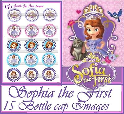 Disney Princess Sofia The First Movie- 15 Bottle Cap Images Or Cup Cake Toppers
