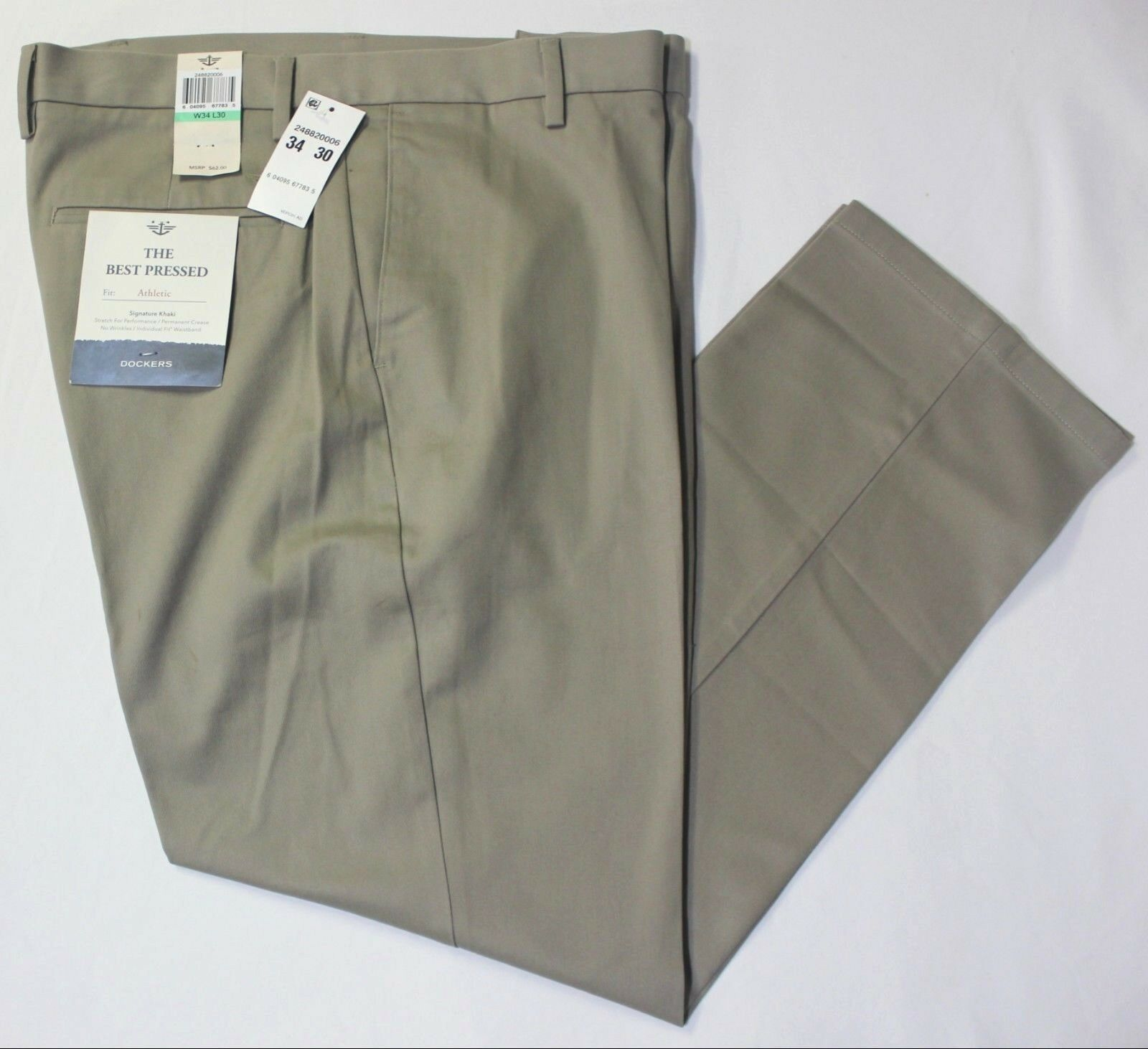 Dockers Signature Khaki Athletic Fit Iron Free Stretch Pants