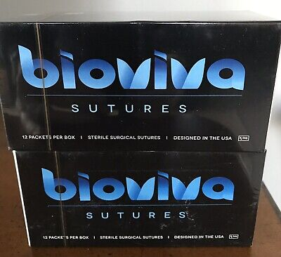Bioviva Silk Braided Nonabsorbable Surgical Suture Wneedle 22mm Sbb632 12pc