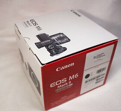 Canon 3611C001 EOS M6 Mark II 32.5MP Mirrorless Digital Camera (Body) - Black