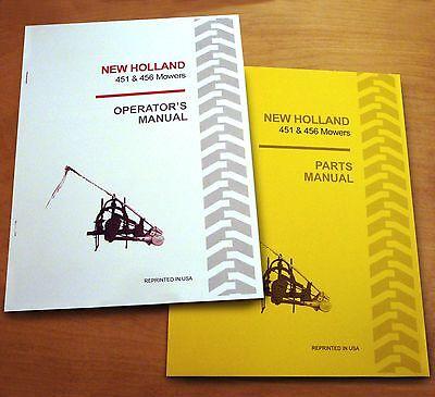 New Holland 451 456 Sickle Bar Mower Operators And Parts Manual Catalog Book Nh