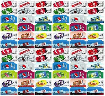 Qty 72 Soda Machine Vending Variety Label Pack Late Style And Size 4 Of Each