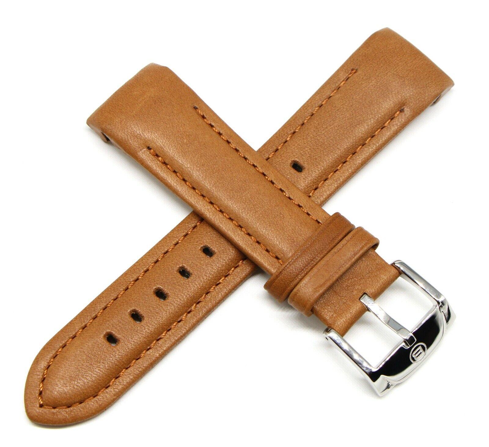 Ben & Sons 24MM Leder Uhrenarmband Braun Mercury