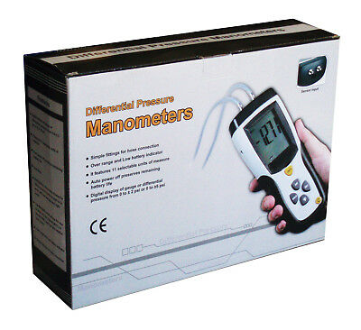 Dt-8890 Differential Air Pressure Gauge Manometer Data Logger Meter Tester New