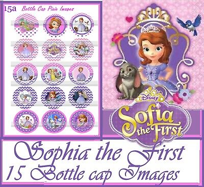 Disney Princess Sofia The First Movie 15 Bottle Cap Images  Cup Cake Toppers
