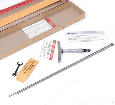 Starrett 445 Depth Micrometer Gauge W 12-13  13-14 Standard Measuring Rod